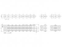 B系列双排短节距精密滚子链