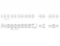 江苏B系列单排短节距精密滚子链