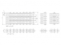 A系列叁排短节距精密滚子链
